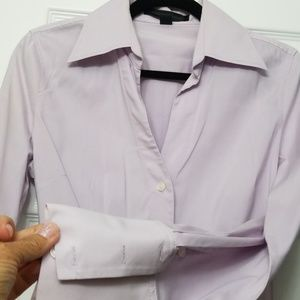 Lavendar Fitted shirt by Express